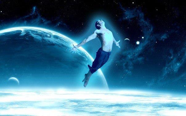 podróżnik astralny w kosmosie